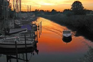 Bootstour bei Sonnenuntergang